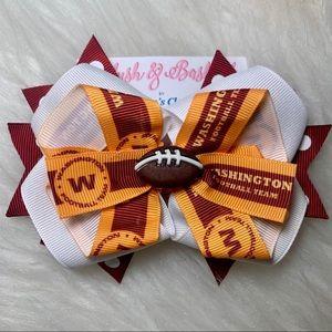 🎀🏈 NFL Washington Football Team Hair Bow 🏈🎀